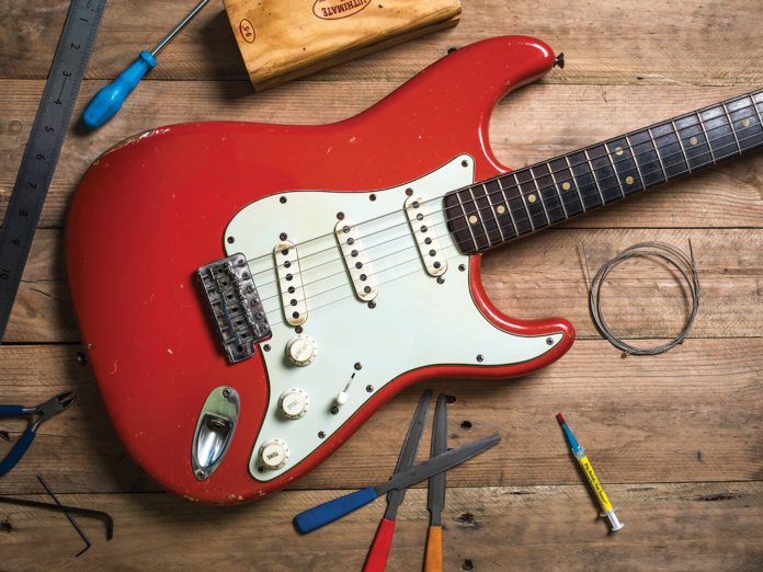 red stratocaster mods upgrades