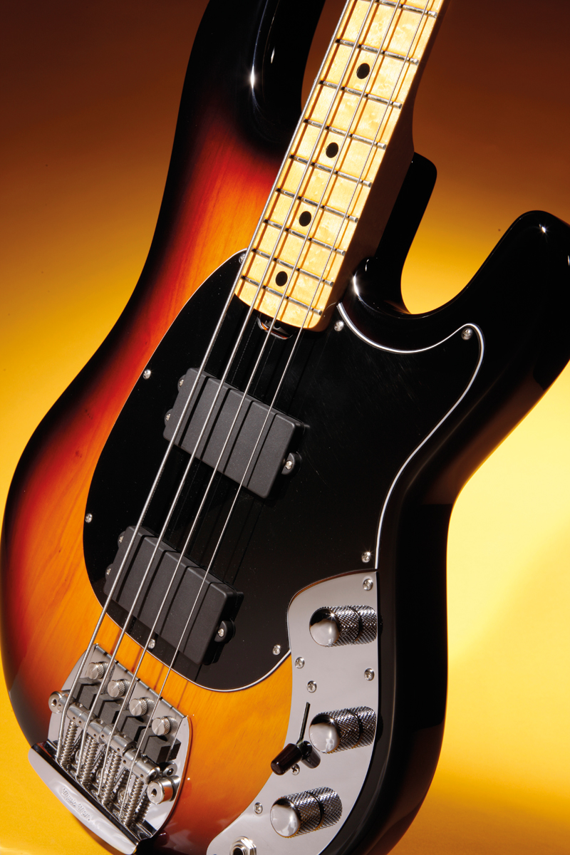 Music Man Classic Sabre Bass Review All Things Guitar Two Humbuckers 3 Way Switch