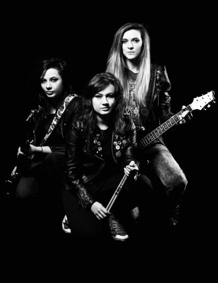 Scottish rock trio The Amorettes