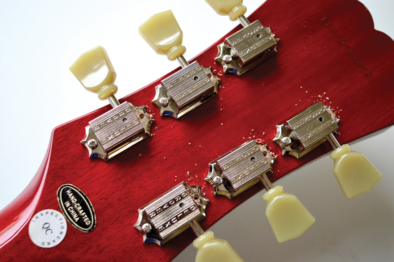 Pic 25 - Drilling Extra Tuner Holes