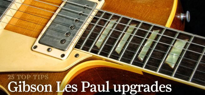 25 essential gibson les paul mods and upgrades all things guitar. Black Bedroom Furniture Sets. Home Design Ideas