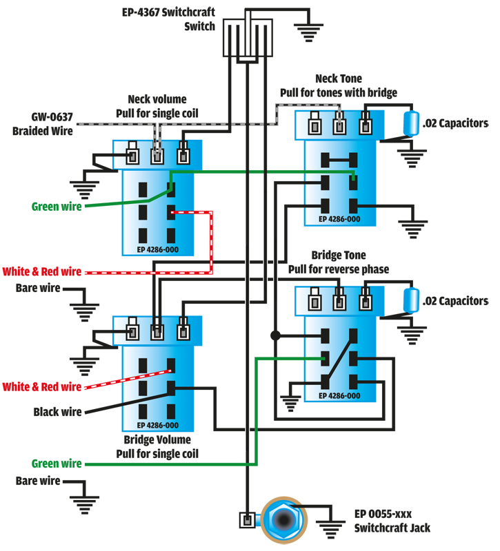 Les Paul Reverse Phase Wiring - Well Detailed Wiring Diagrams •