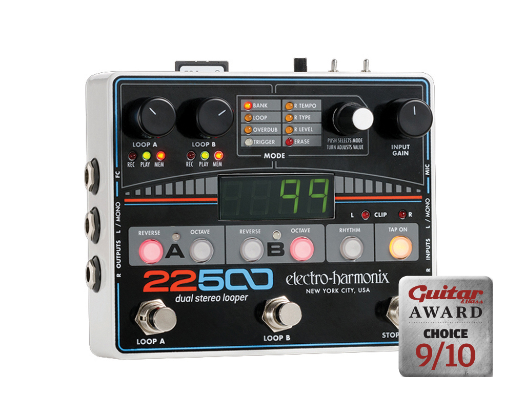 electro harmonix 22500 dual stereo looper review all things guitar. Black Bedroom Furniture Sets. Home Design Ideas