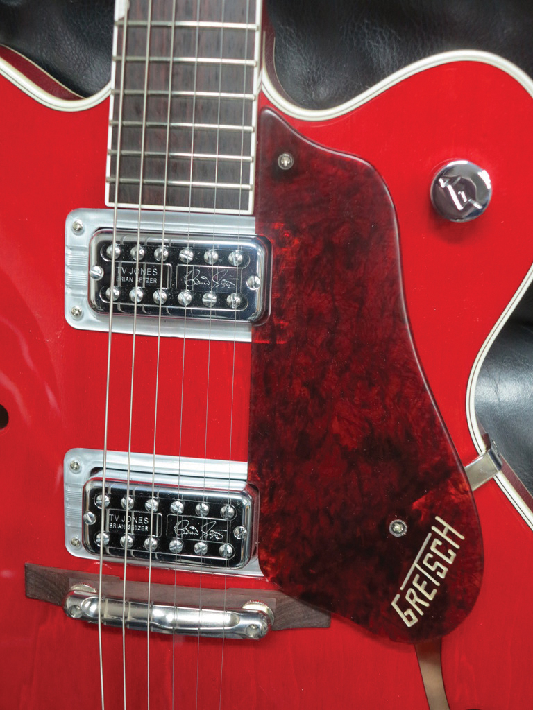 20 Gretsch Upgrades Mods Tone Tips The Guitar Magazine Synchromatic Wiring Diagram Pic 7b Paul Setzer Pickguard
