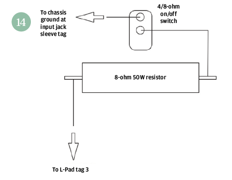 attenuator guitar amp circuit impedance switch