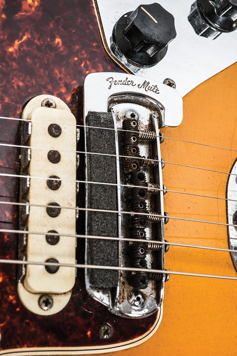 Vintage bench test 1966 fender jaguar the guitar magazine the mechanically activated string mutes or dampeners were a popular feature on many guitars at the time but the jaguar was the first fender model to have one sciox Images