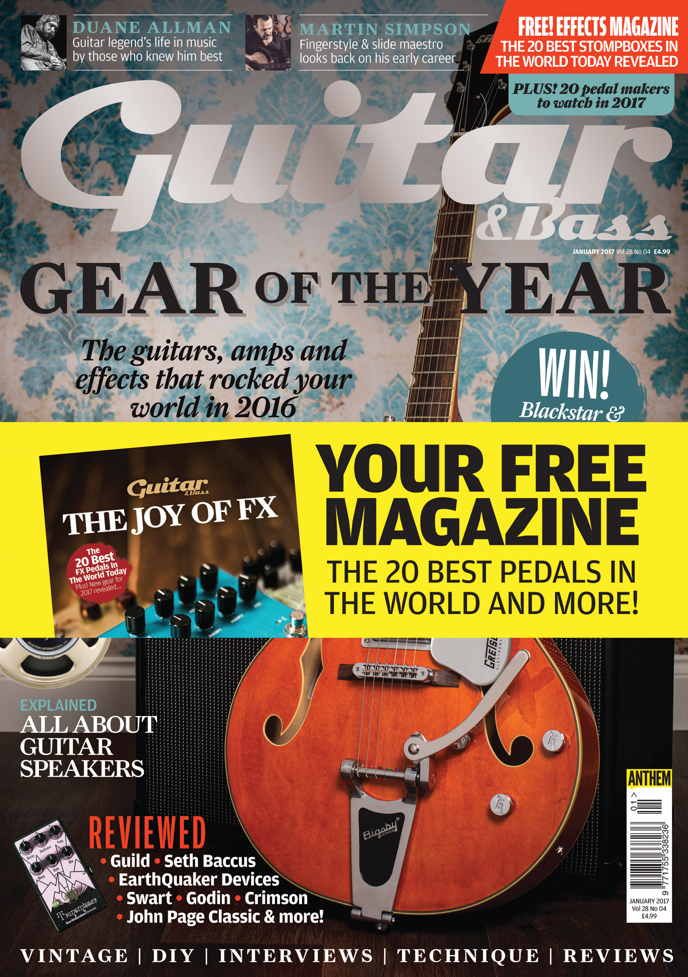 The January 2017 Issue Of Guitar Bass Is Out Now