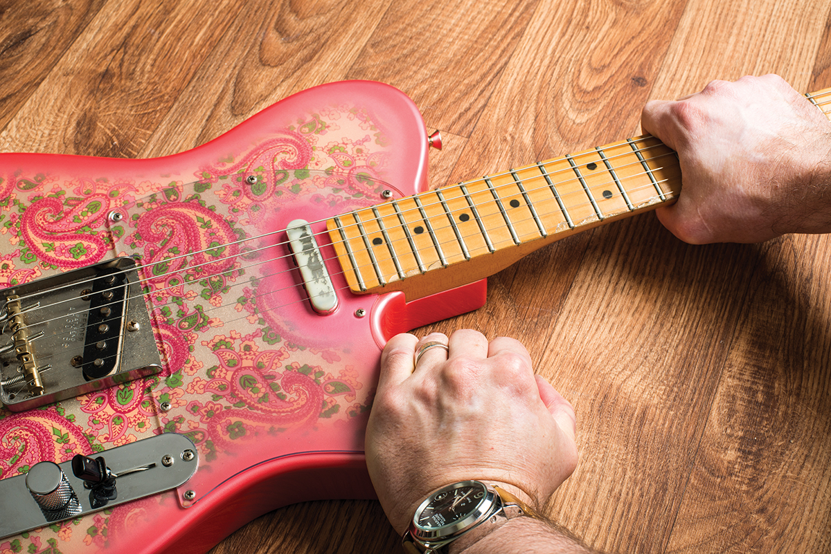 Guitar Diy Tips A Guide To Routine Maintenance All This Is Fingerboard Diagram The Open Strings Are Shown On After Slackening And Neck Screws Grasp Body Pull Straight