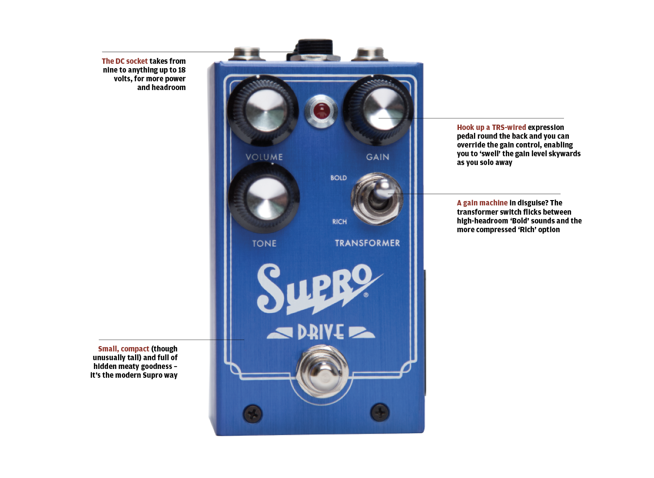 The 20 Best Fx Pedals In World Today Guitar Magazine Related Posts To Fuzz Box Schematics Central And Pcbs A Musical Old Time Supro Amp Aping Overdrive With An Output Transformer Intriguing Expression Pedal Option For Increasing Gain