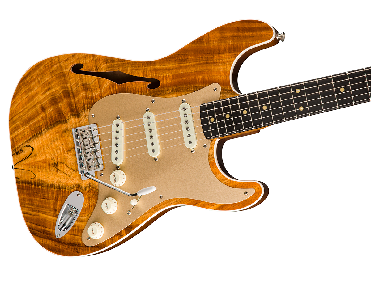 Artisan Thinline Strat KOA GBP4039 A Hollowbody That Brings New Level Of Tone Resonance And Beauty The Koa Is Crafted
