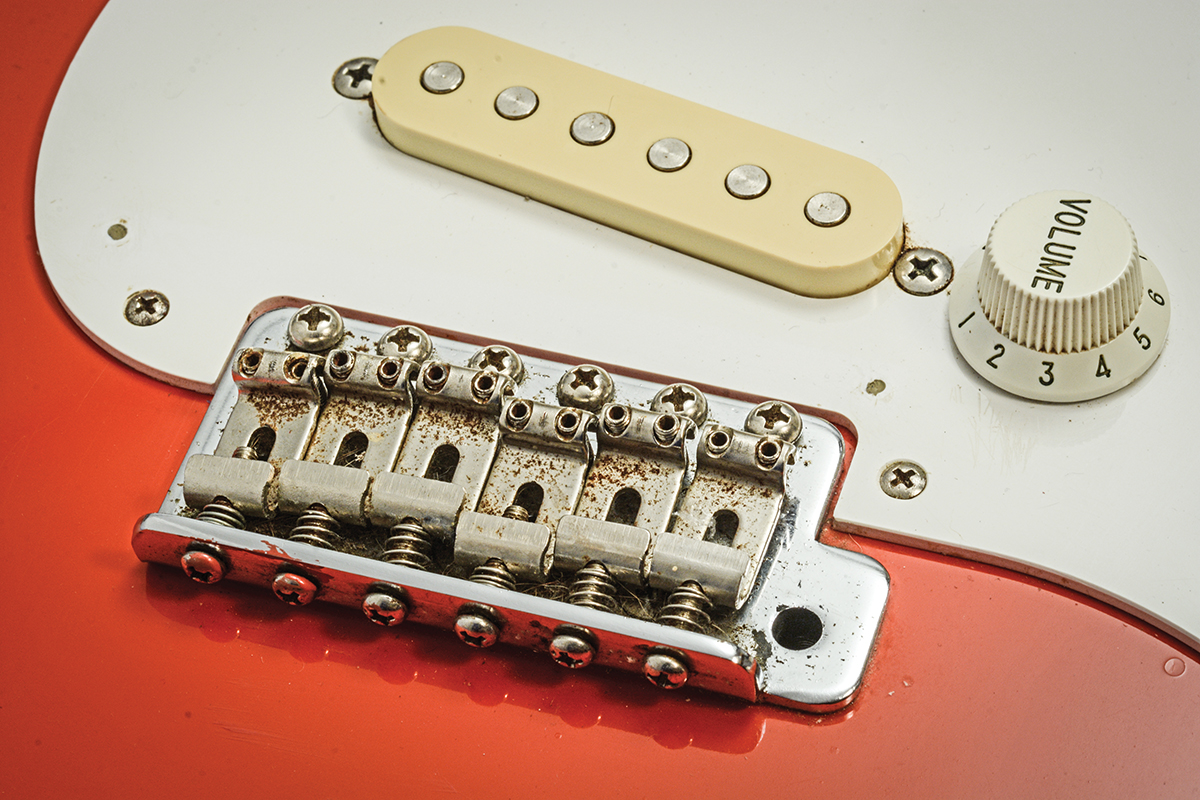 Diy Hankcaster Conversion All Things Guitar Vintage Strat Wiring Schematic But Any Fiesta Red Maple Neck Will Create A Similar Visual Impression