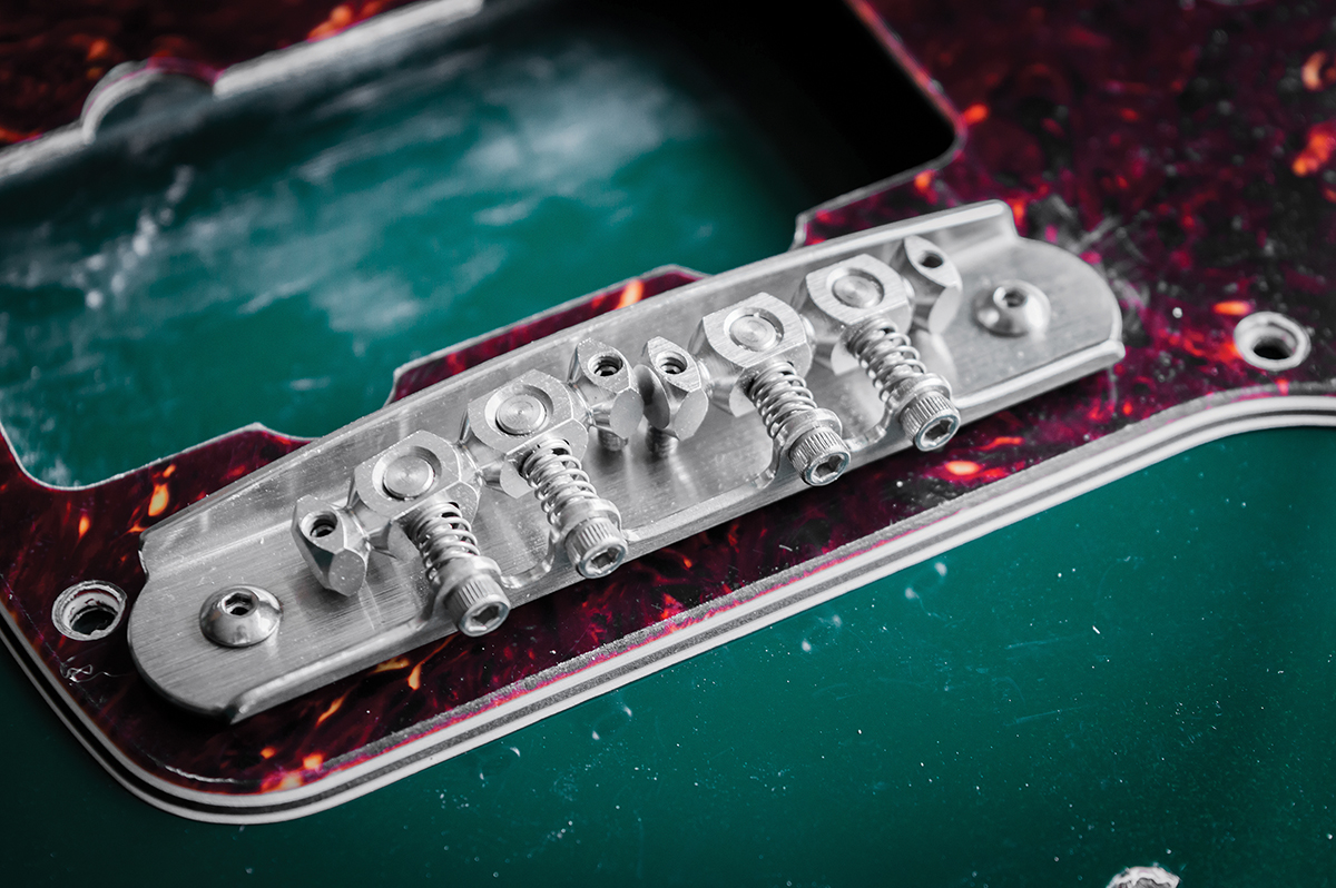 Diy Workshop Jazzmaster Bridge Wiring Upgrades Telecaster Series Diagram Masterys Design Features Swivelling Low Friction Saddles Global Height Adjustment Radius Setting And A Cutaway Back Plate For Clear String Path