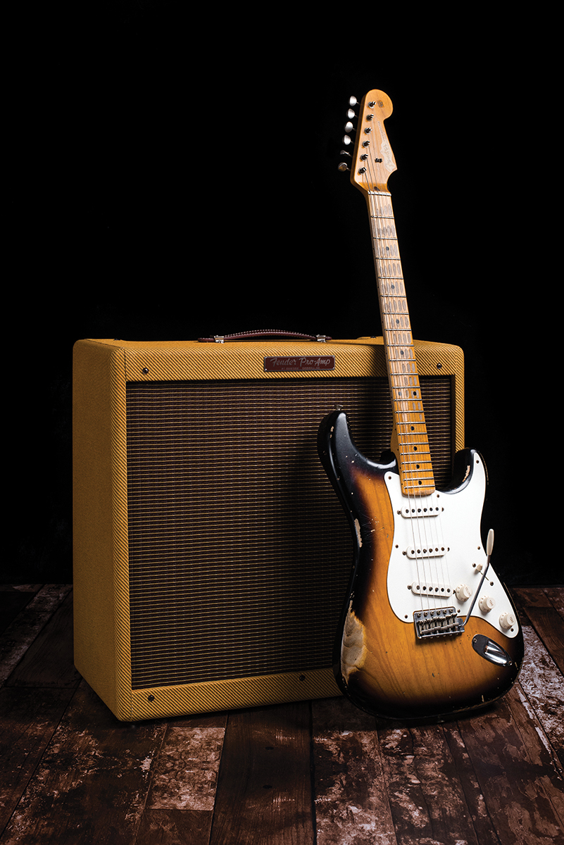 Fender 57 Custom Pro Amp The Guitar Magazine This Is Just Cool Diagram I Found On Net Stratocaster Has A For While During Late 1950s Had Variety Of Models That Were Essentially Same Amplifier In Different Sized Cabinets With Various