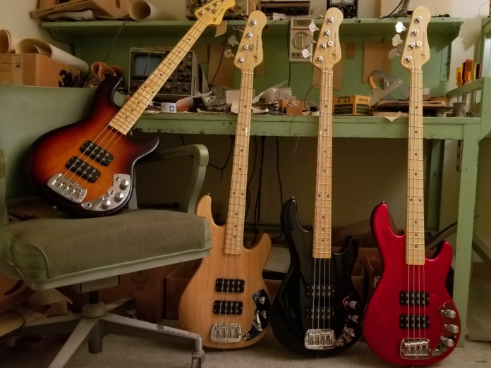 The CLF Research in Three-tone Sunburst, Natural, Jet Black and Candy Apple Red