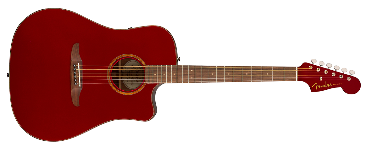 The Fender California Redondo Classic in Hot Rod Red Metallic