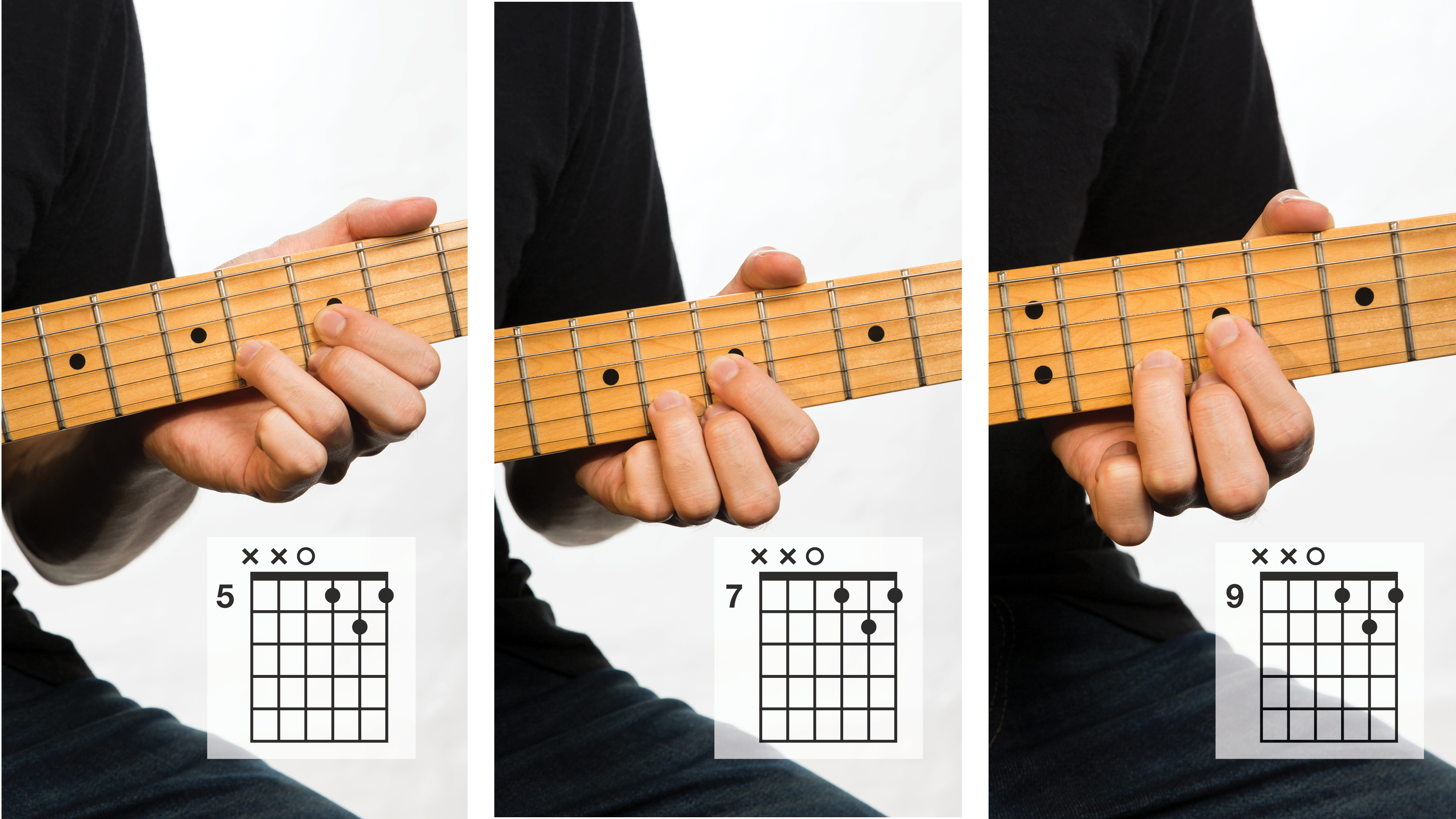 Modified D chord shapes