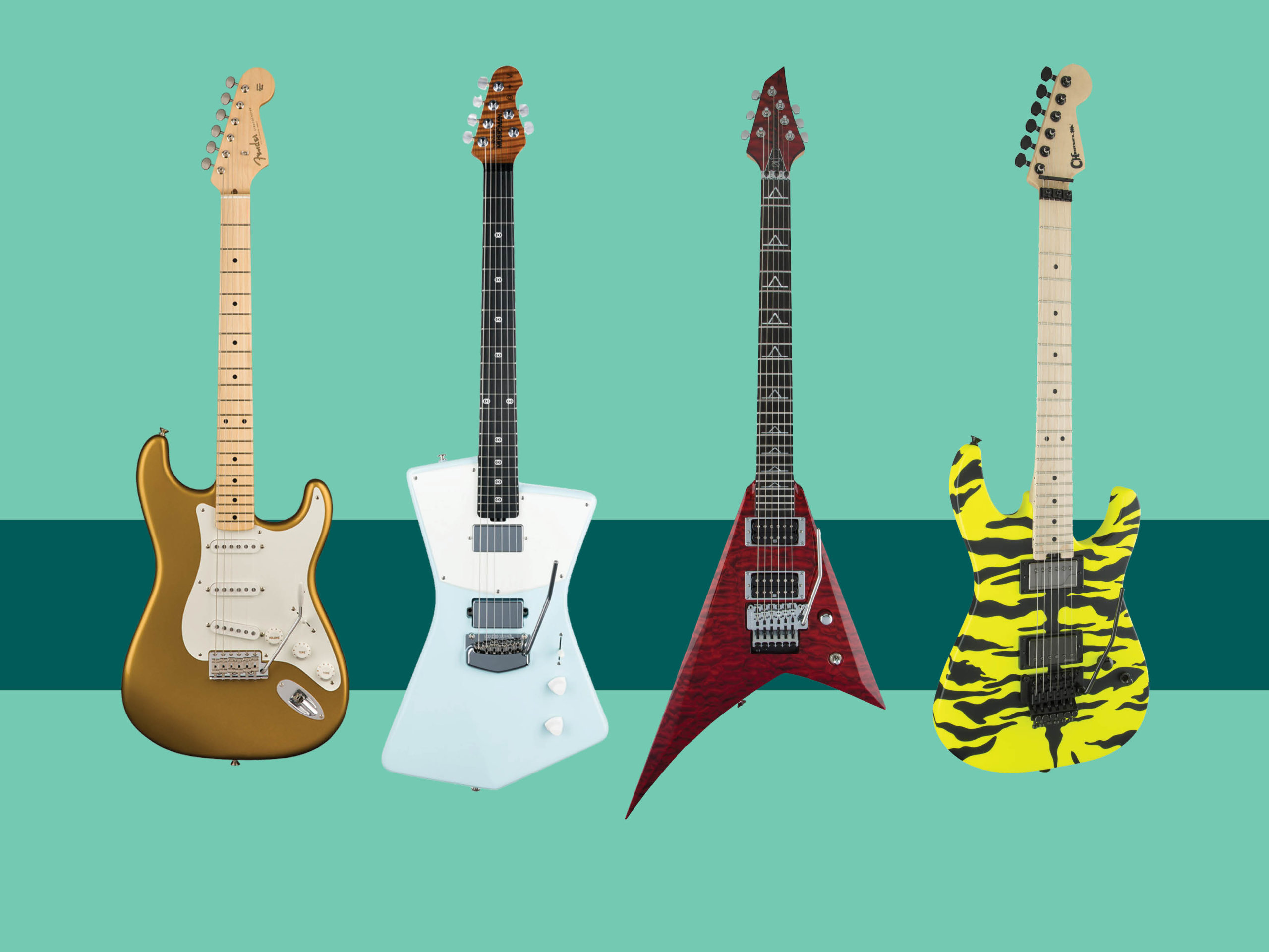 New electric and acoustic guitars: February 2018