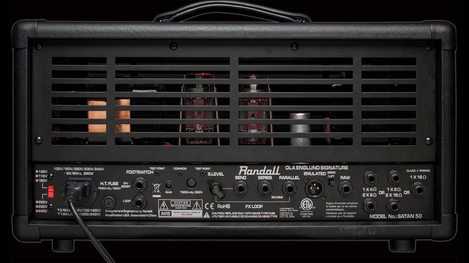 Randall Satan 50 amp back