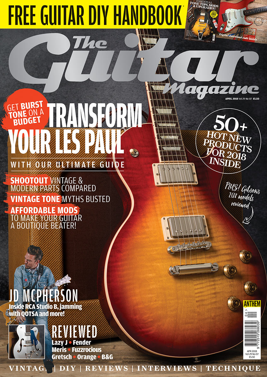 All About Potentiometers The Guitar Magazine 500k Tone Pot Wiring As Well 3 Humbucker Les Paul Diagram In April Issue Of Is On Sale Now