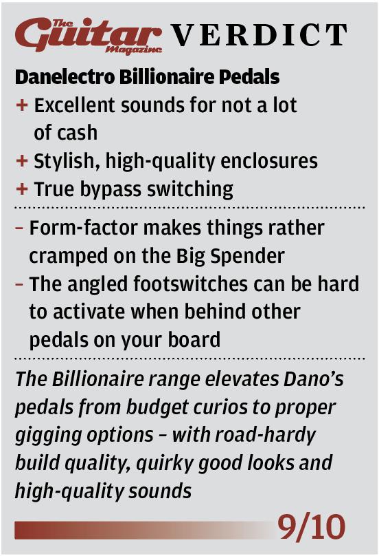 Danelectro Billionaire Pedals - The Guitar Magazine   The Guitar ...