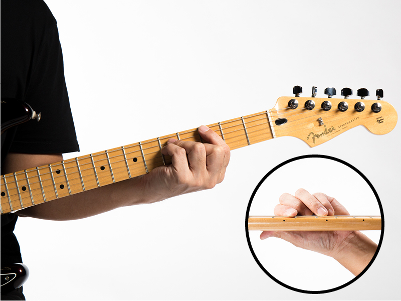 Guitar technique wrong way to hold neck