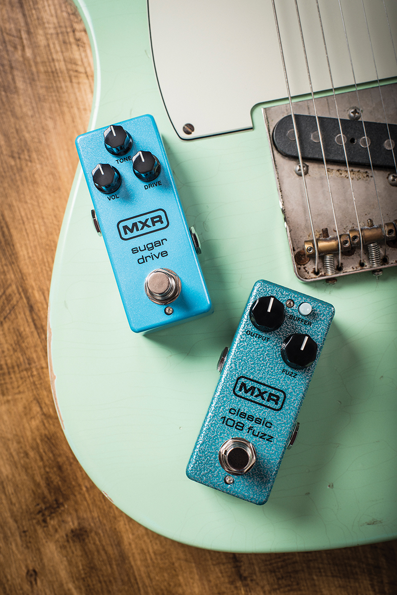 Mxr Sugar Drive Mini And Classic 108 Fuzz The Guitar Magazine Re Wah Pedal Buffer Circuits Like Oceans Mountains Annoyingness Of Piers Morgan Pedals Have Always Existed Will To Be A Little More Precise