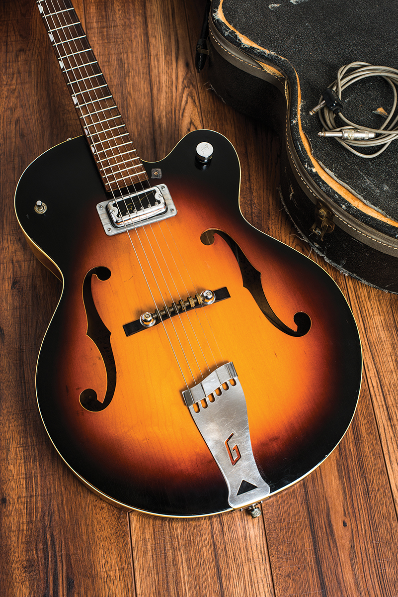 A 1960 Single Anniversary model complete with Hilo'Tron pickup gretsch