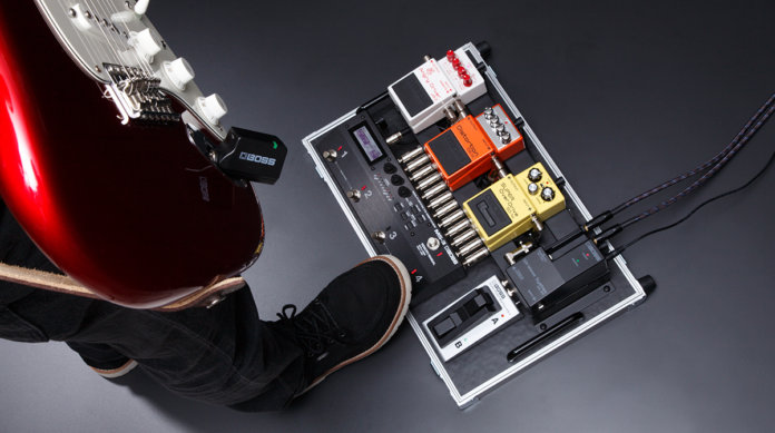 boss unveils pedalboard friendly wireless system all things guitar. Black Bedroom Furniture Sets. Home Design Ideas
