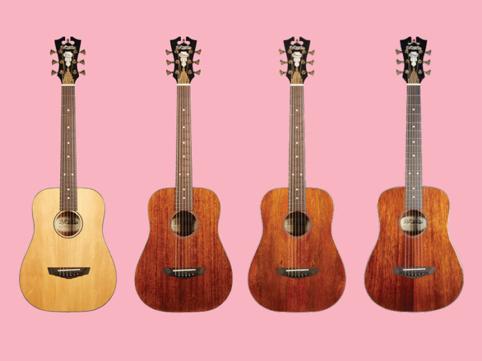 D'Angelico Premier Series Utica Spruce, Utica Mahogany, Utica Koa, and Utica Mahogany with arched back