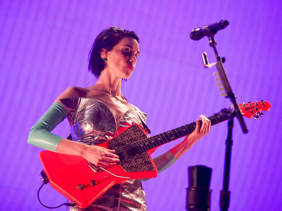 Watch St Vincent demo her new Ernie Ball Music Man signature