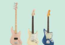 Fender Flea Jazz Bass Active, Albert Hammond Jr Stratocaster and Johnny Marr Jaguar