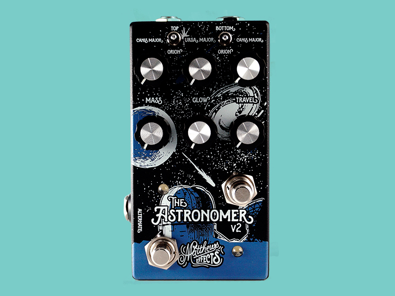 Matthews Effects updates Astronomer reverb pedal