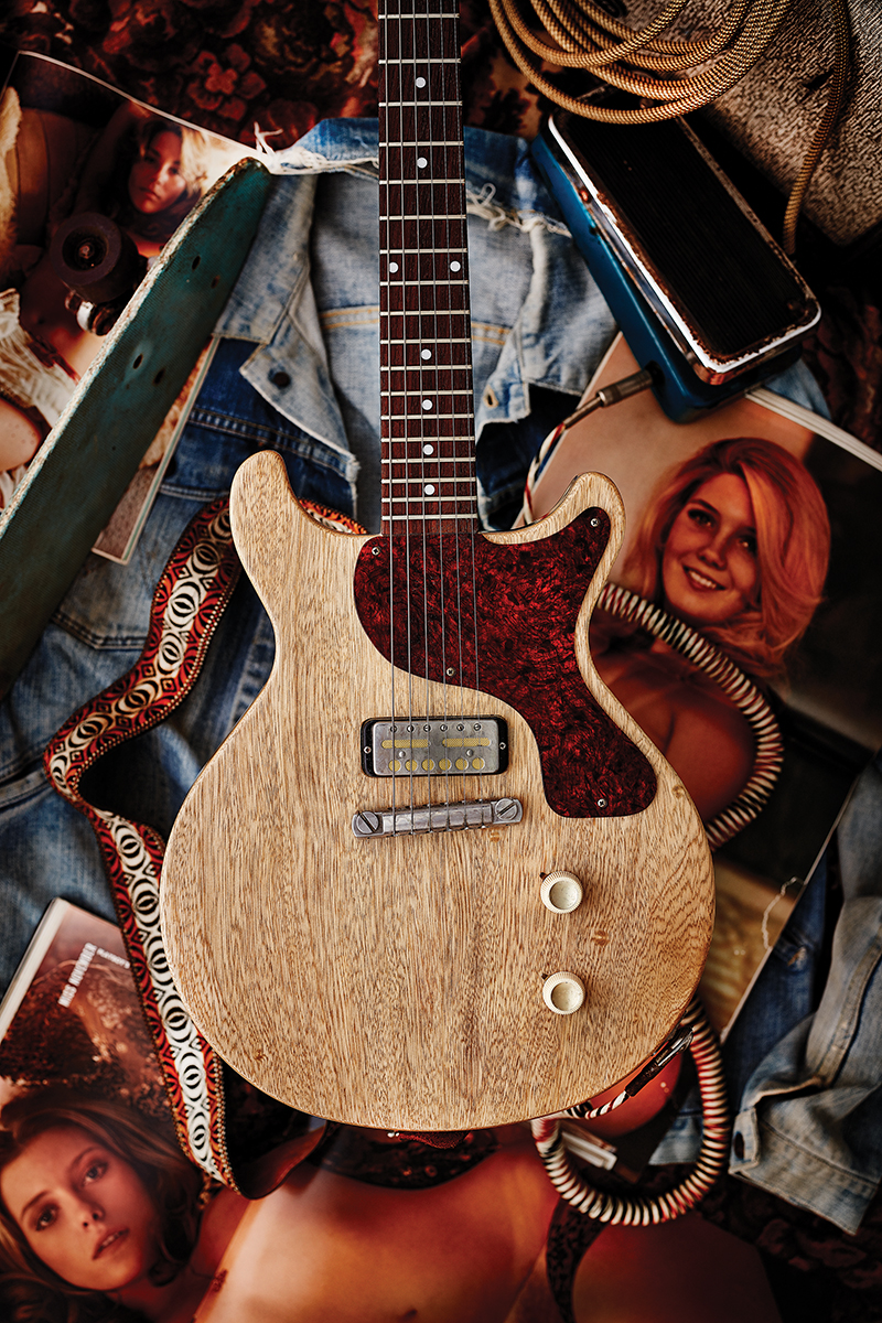 A Shyboy Guitars korina Junior with Lollar Gold Foil