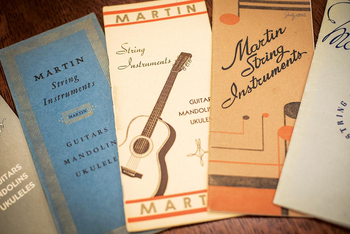 Vintage martin sales brochures