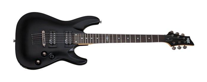 Schecter C-1 SGR, una excelente opción entre las mejores guitarras asequibles y baratas para principiantes.