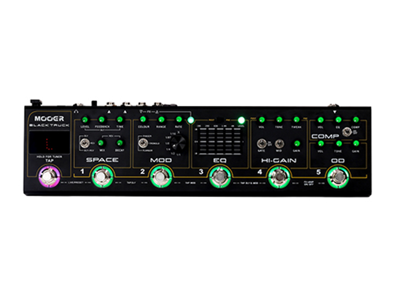 Mooer debuts multi-effects pedal, the Black Truck