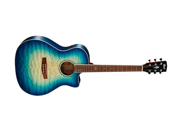 Cort GA-QF in Coral Blue Burst acoustic guitar