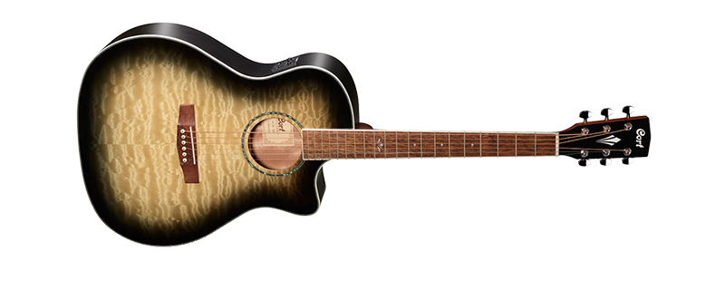 Cort GA-QF in Trans Black Burst acoustic guitar