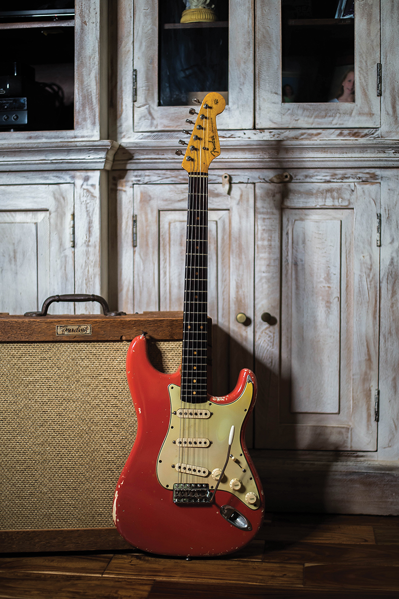 1963 Stratocaster with Fender Custom Shop Tobacco Barn amplifier