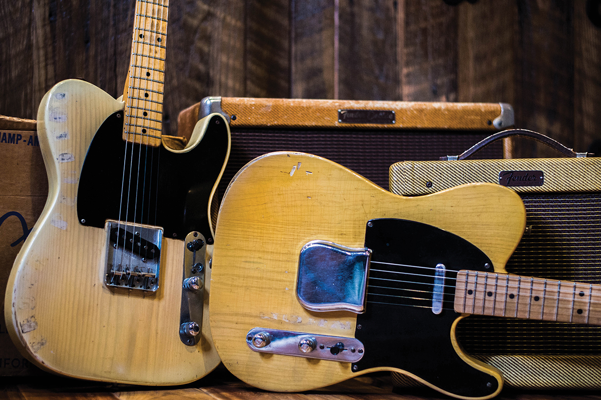 1954 Esquire, '52 Telecaster, '56 Fender 5E3 Deluxe and 1960 Fender Champ with original box