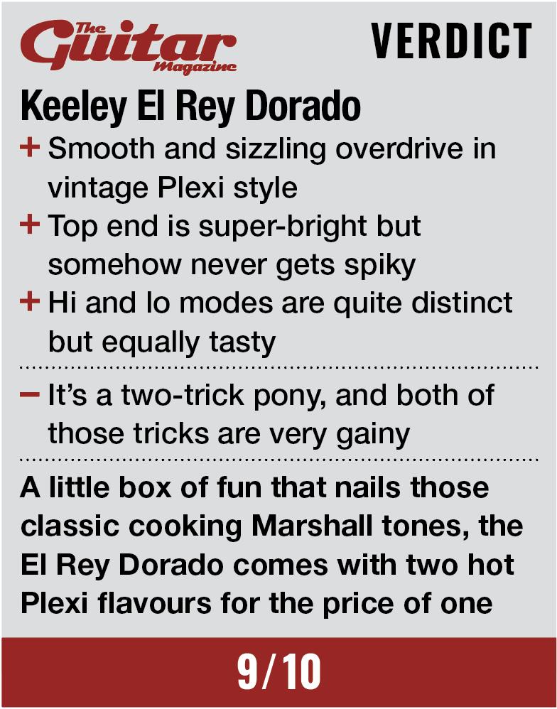Keeley El Rey Dorado Distortion & Aria Compressor