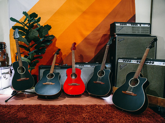 Fender California series acoustic guitars