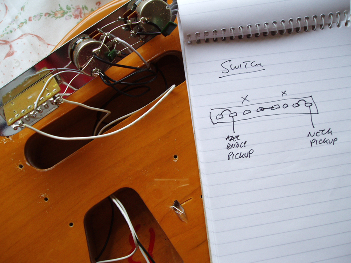 Diy Workshop Squier Telecaster Upgrades All Things Wiring Diagram Further Standard Strat On When You Strip Out The Electronics From A Guitar Its Advisable To Make Notes And Diagrams Before Start It Really Helps Youre Trying Put