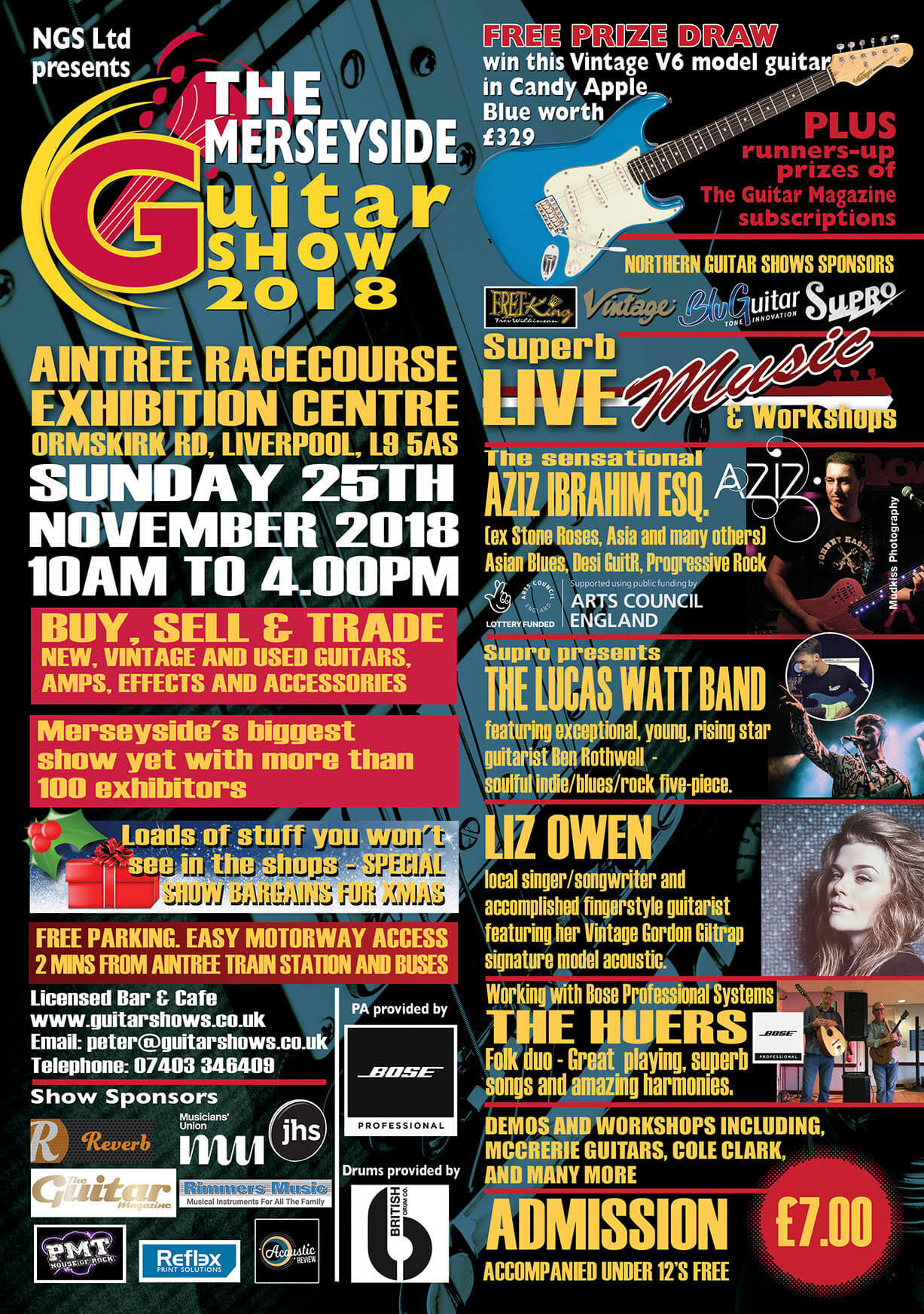 The Merseyside Guitar Show returns to Aintree Racecourse for November 2018
