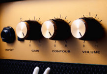 Electric guitar amplifier panel control