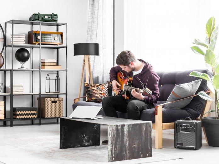 Living room guitar