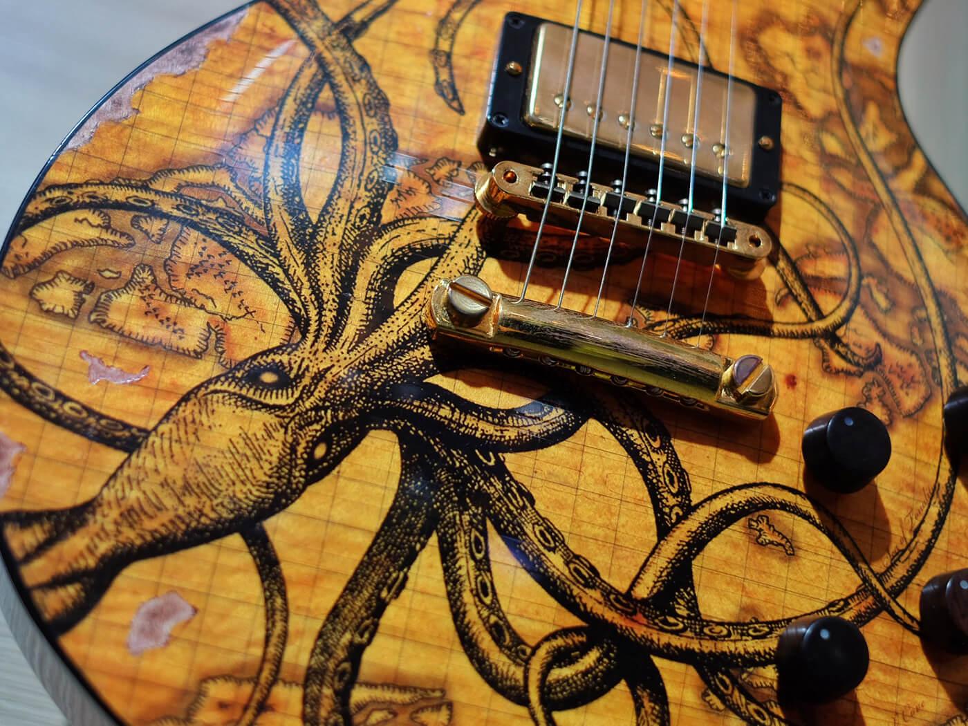 """Les Paul Standard """"Kraken"""" Art"""