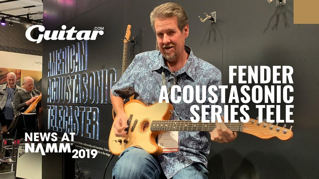 namm 2019 video watch fender 39 s american acoustasonic series telecaster in action. Black Bedroom Furniture Sets. Home Design Ideas