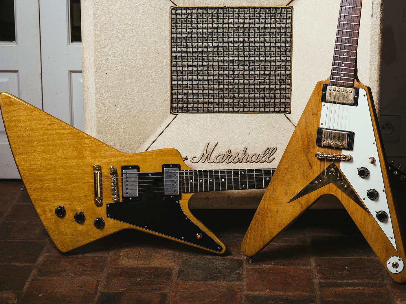 rare guitars joe bonamassa 39 s gibson heritage series 1981 flying v 1983 explorer. Black Bedroom Furniture Sets. Home Design Ideas