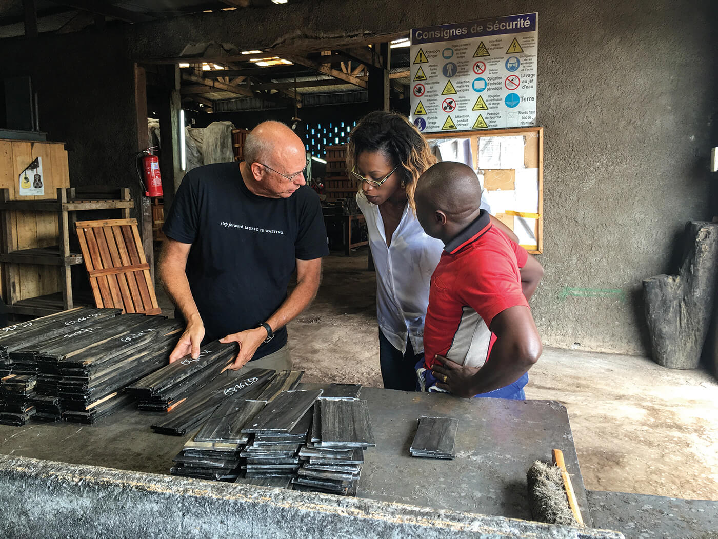 Bob Taylor grading ebony fingerboards